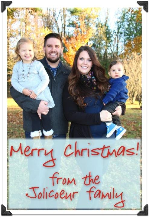 Merry Christmas Jolicoeur Family